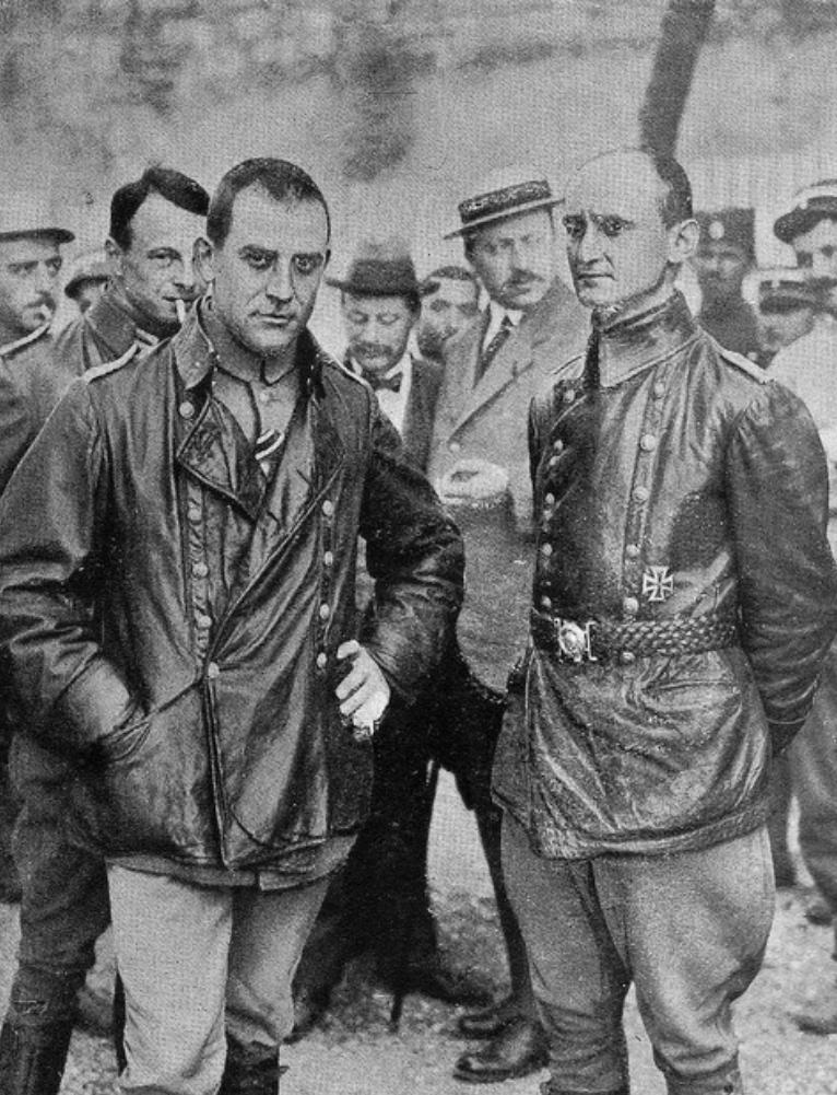 Echipajul lui LZ 85 capturat de aliati la Salonic