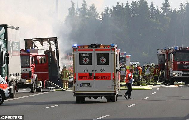 Accident autostrada Germania autocar