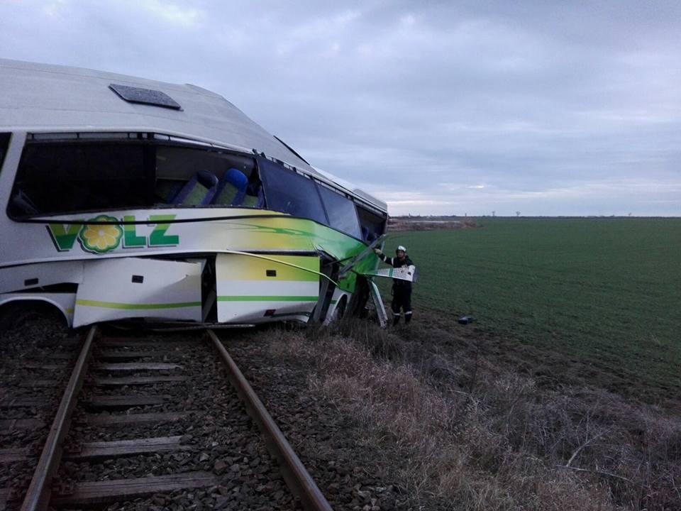 Accidentt tren autocar