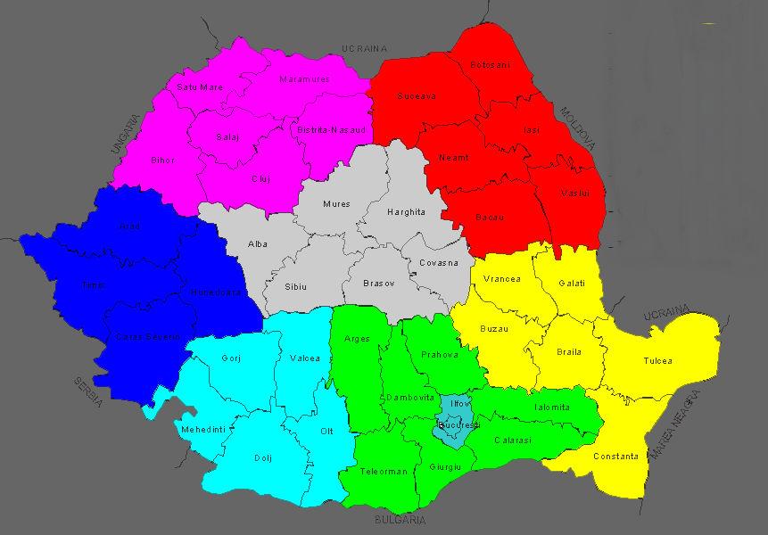Regiuni harta