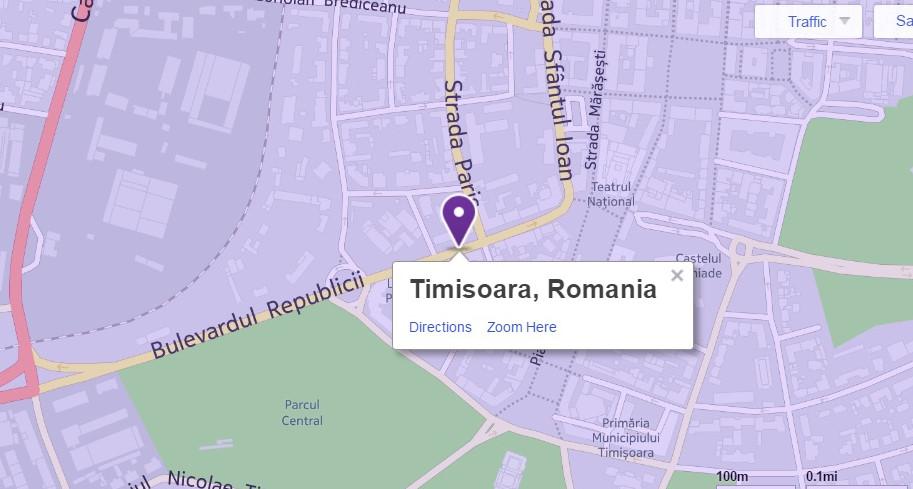 Timisoara kilometrul zero Yahoo maps